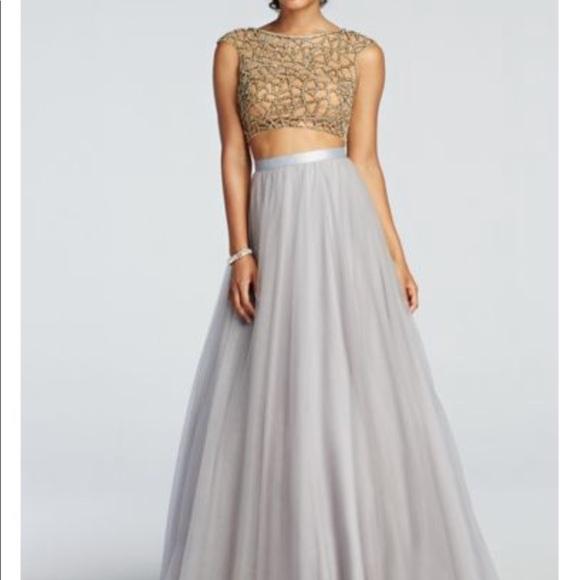Davids Bridal Dresses Davids Bridal 2 Piece Prom Dress Poshmark
